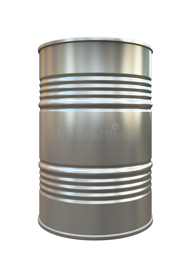 查出的金属桶 向量例证
