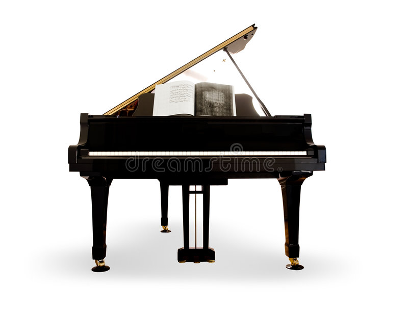 查出的钢琴 免版税库存图片