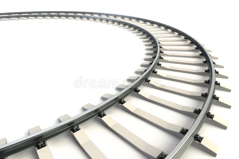 查出的铁路 库存例证