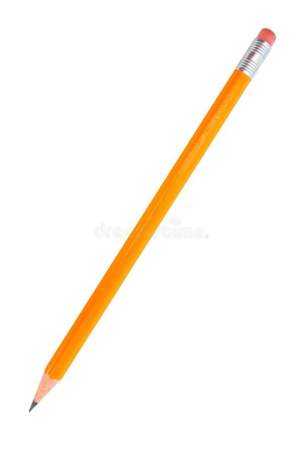 查出的铅笔白色 免版税库存图片