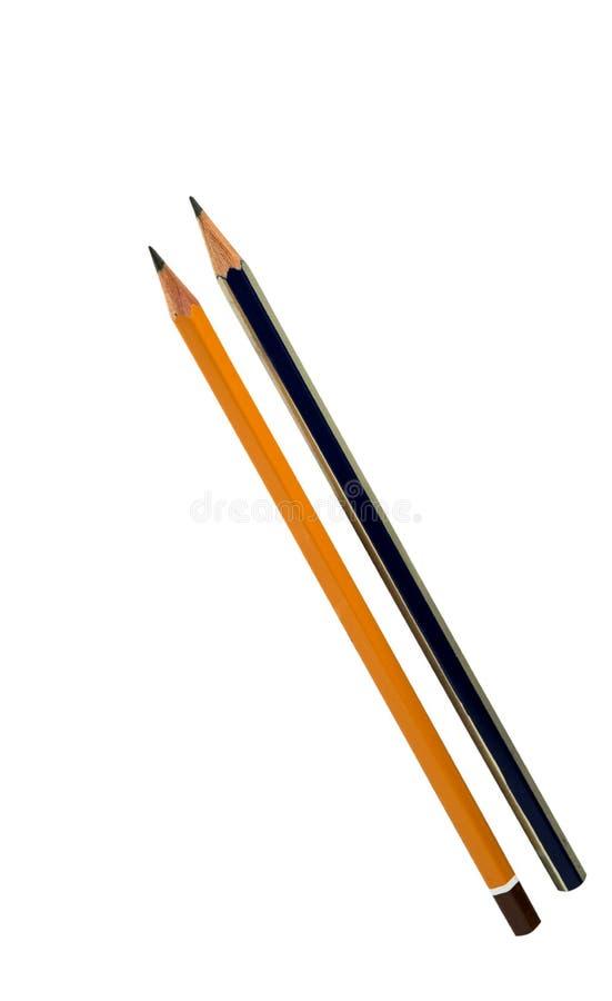 查出的铅笔 免版税库存照片