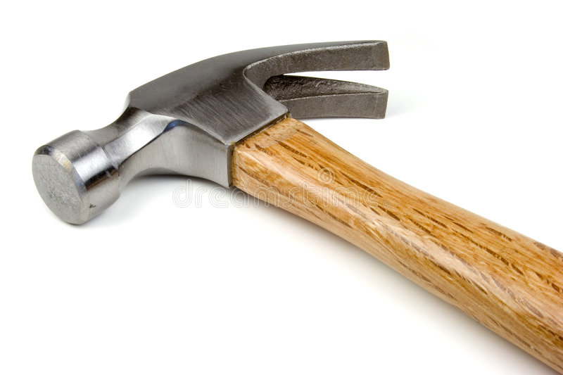 查出的锤子 免版税库存图片