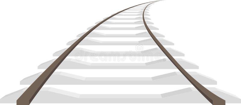 查出的长的铁路运输 库存例证