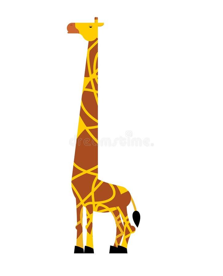 查出的长颈鹿 大草原动物 狂放的野兽传染媒介illustratio 向量例证