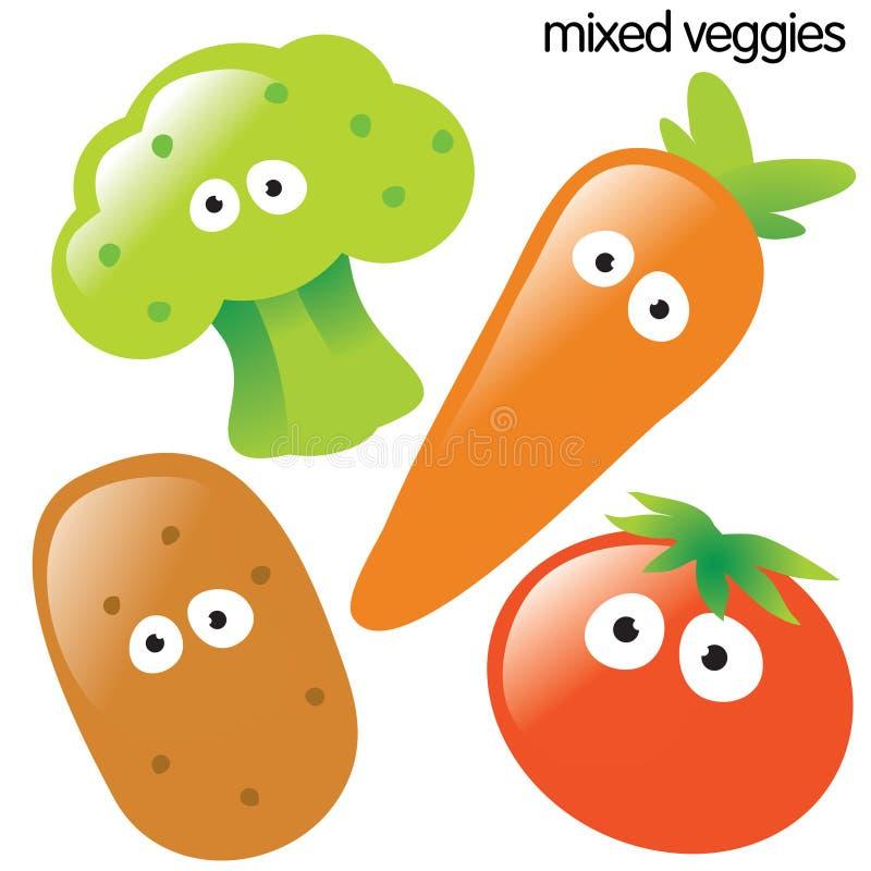 查出的集合蔬菜 向量例证