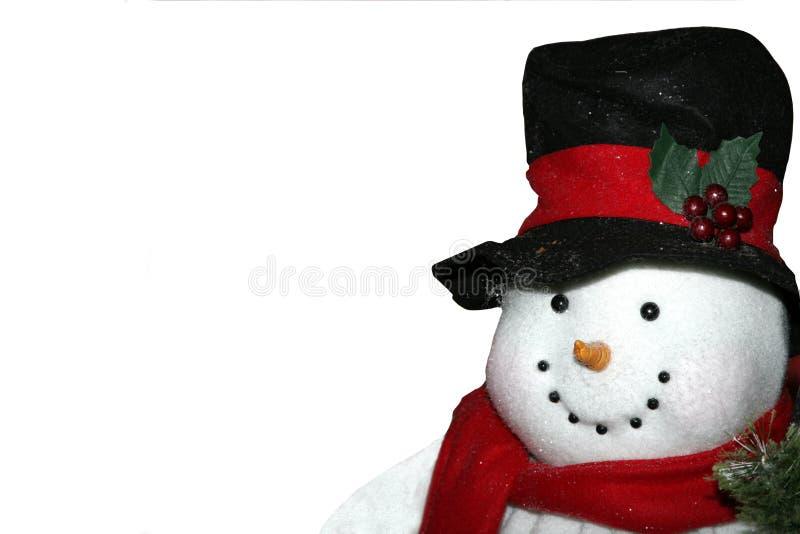 查出的雪人 免版税库存照片