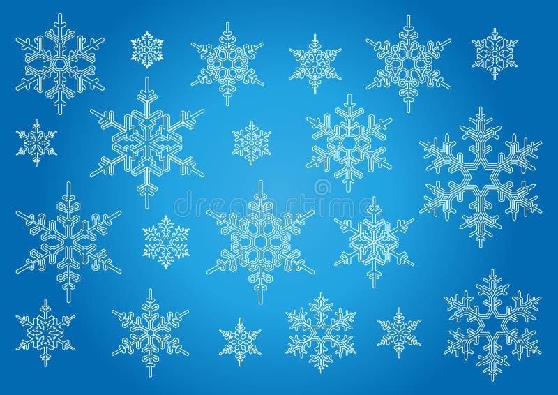查出的雪花 向量例证