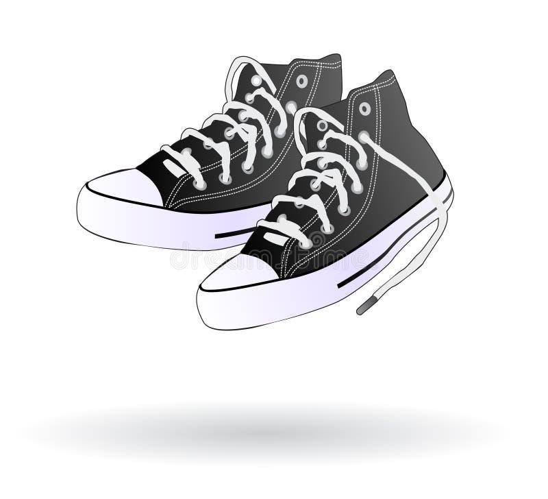 查出的鞋子运动鞋 库存例证