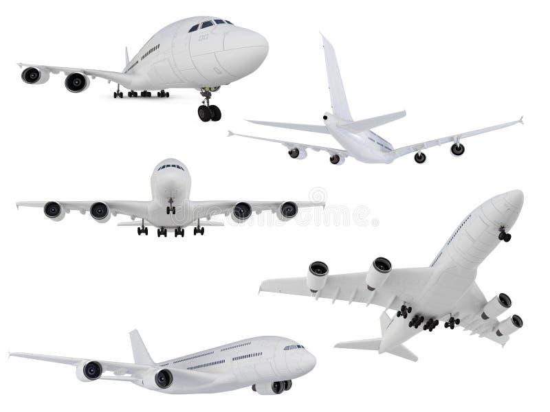 查出的飞机拼贴画 向量例证