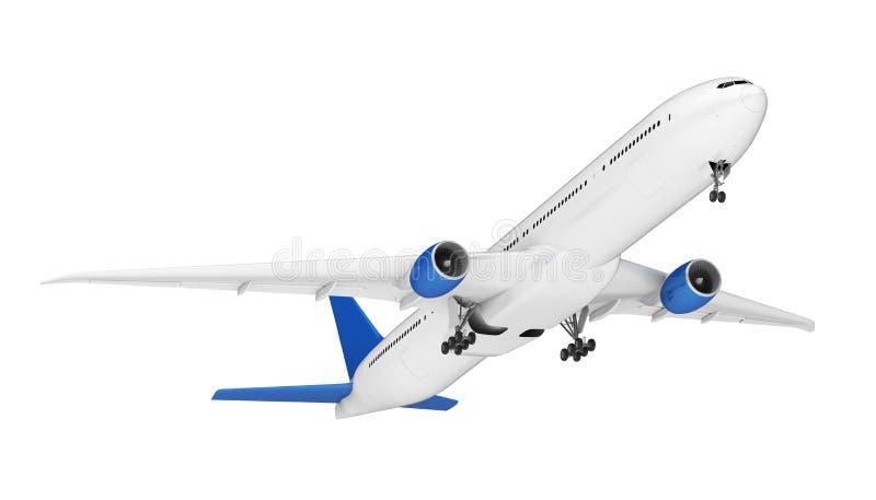 查出的飞机 向量例证