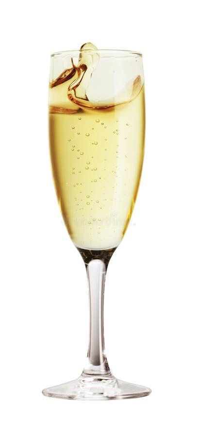 查出的香槟玻璃 免版税库存照片