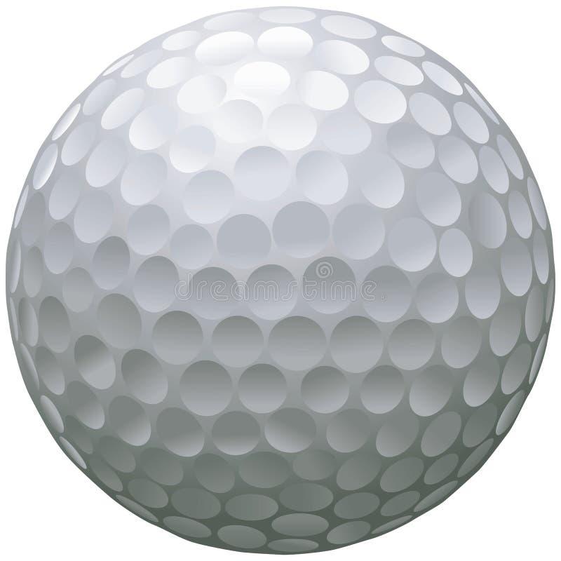 查出的高尔夫球 向量例证