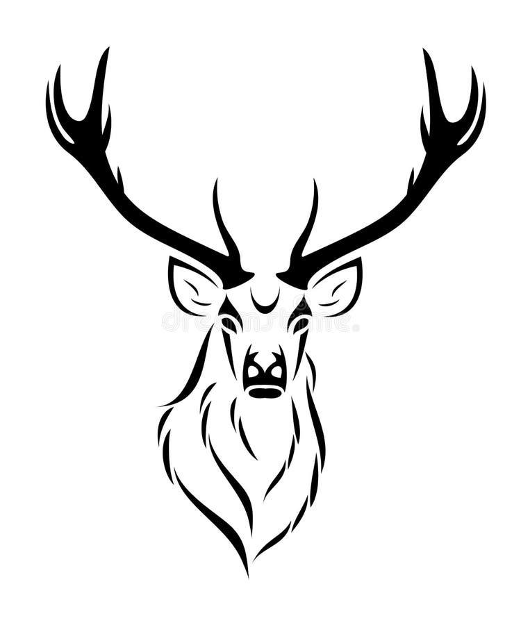 查出的鹿 库存例证