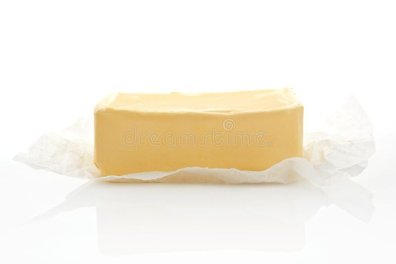 查出的黄油 免版税库存照片