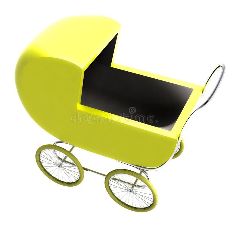 查出的黄色婴孩支架透视图剪贴美术 库存例证