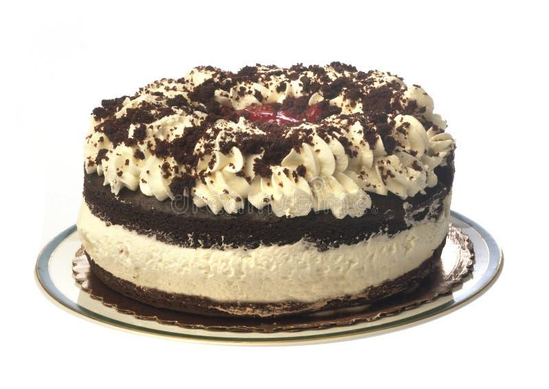 查出的黑色蛋糕森林 免版税库存图片