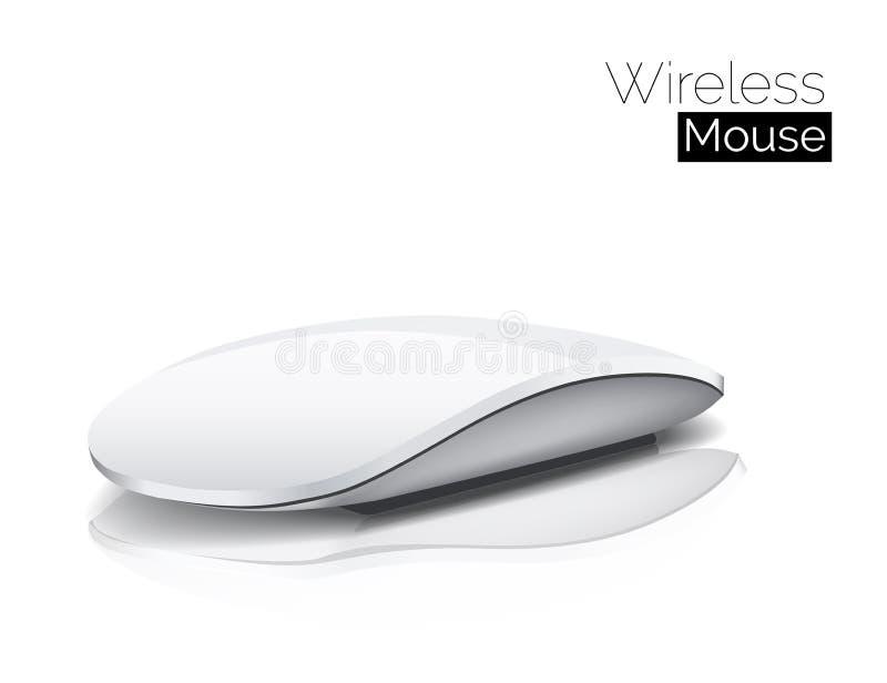 查出的鼠标空白无线 库存例证