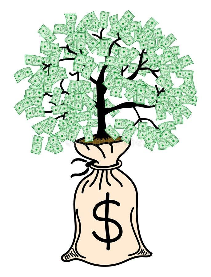 查出的货币结构树白色 库存图片
