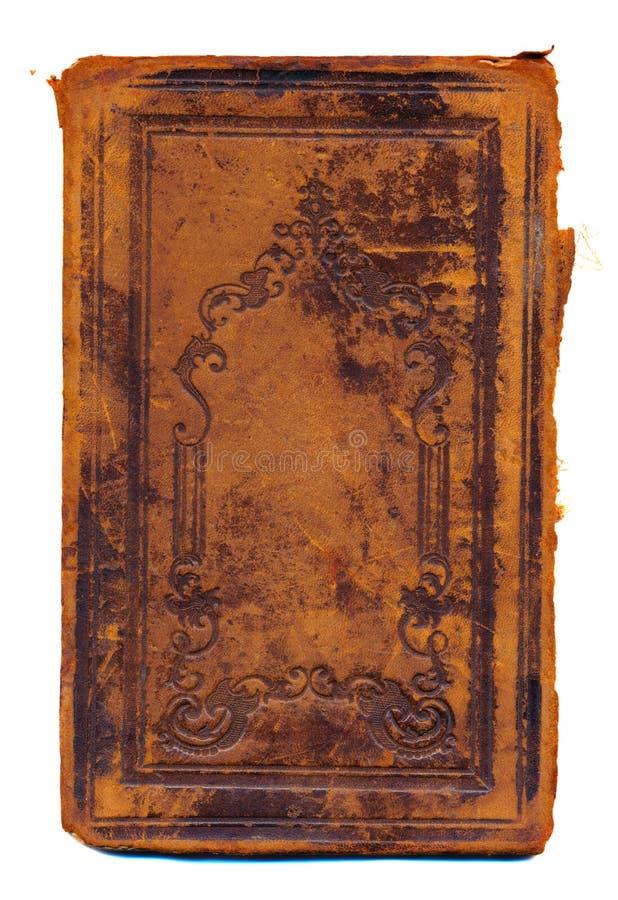 查出的Grunge和变老的古老书套 免版税图库摄影