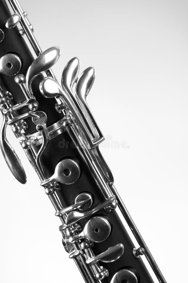 查出的oboe白色 免版税库存图片