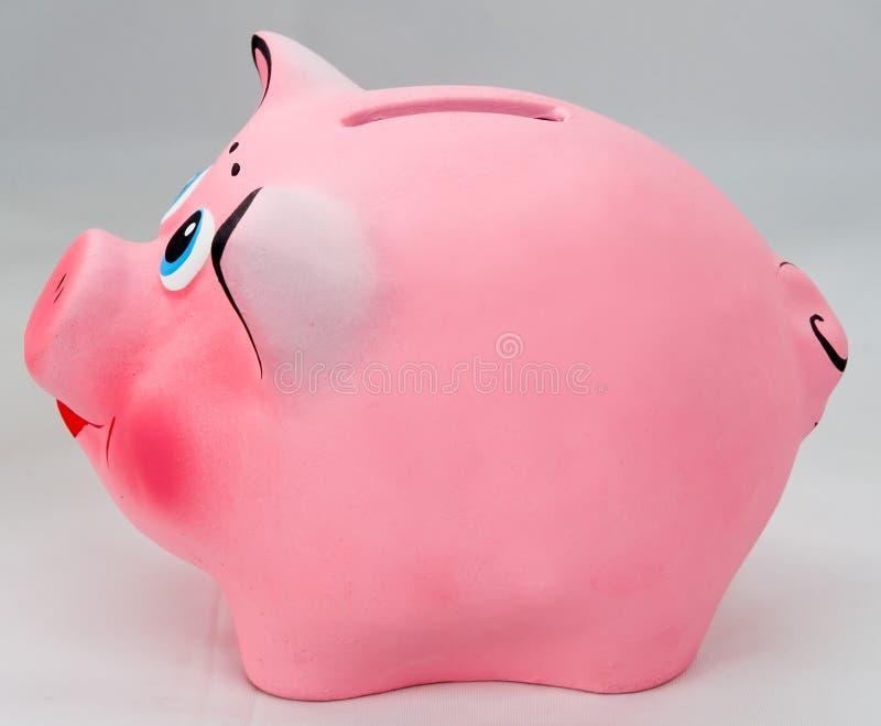 查出的piggibank粉红色 免版税库存照片