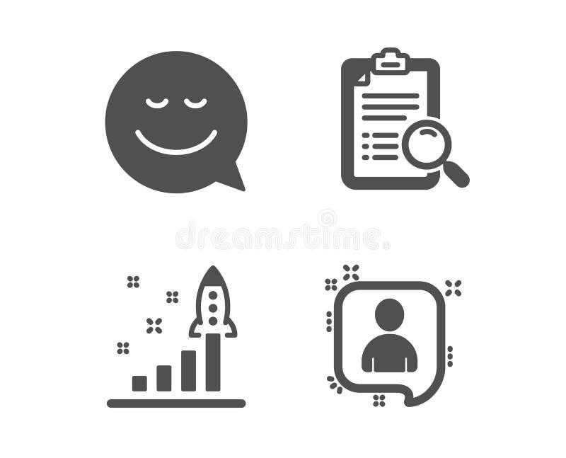查寻分析、发展计划和微笑象 开发商聊天标志 发现勘测,战略,闲谈情感 ?? 库存例证