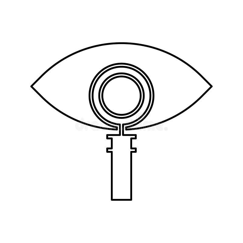 查寻处理象 网络安全的元素流动概念和网应用程序象的 网站设计的稀薄的线象和 皇族释放例证