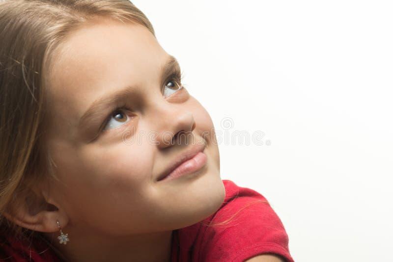 查寻女孩的特写镜头画象  库存照片