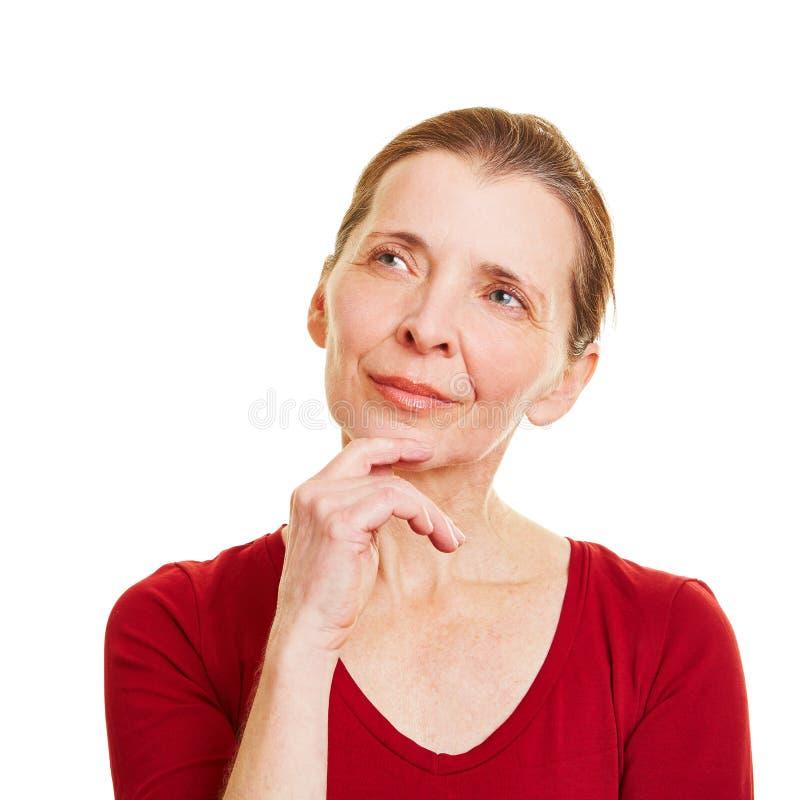 查寻年长的妇女 库存图片
