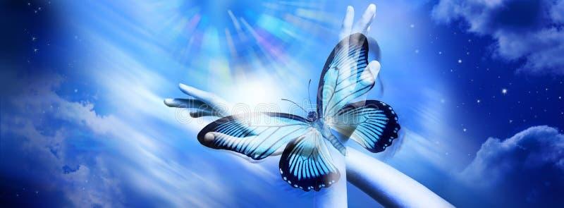 查寻灵性希望爱目的 库存例证