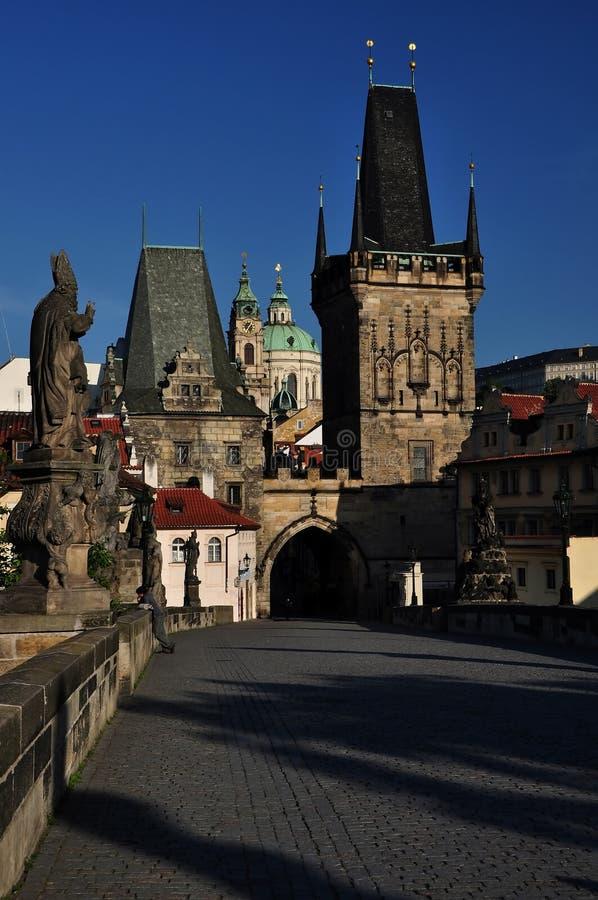 查尔斯桥梁在布拉格,捷克共和国 免版税库存图片