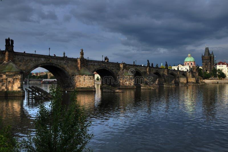 查尔斯桥梁在捷克共和国的2布拉格 库存照片