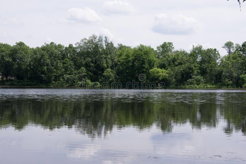 查尔斯河的看法内蒂克的 免版税库存照片