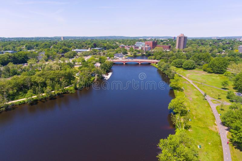 查尔斯河,波士顿,马萨诸塞,美国 免版税库存图片