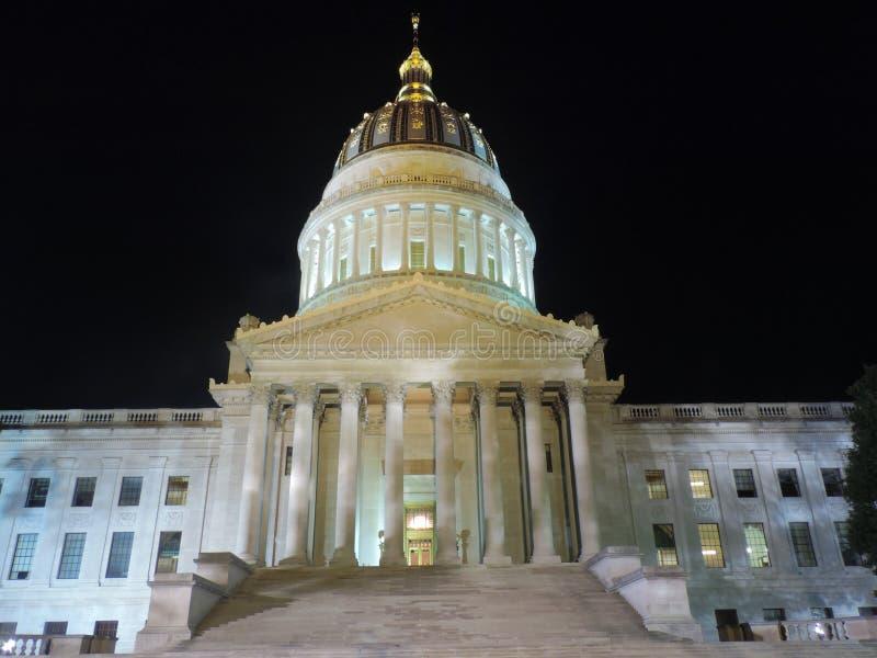 查尔斯顿国会大厦在晚上 免版税图库摄影