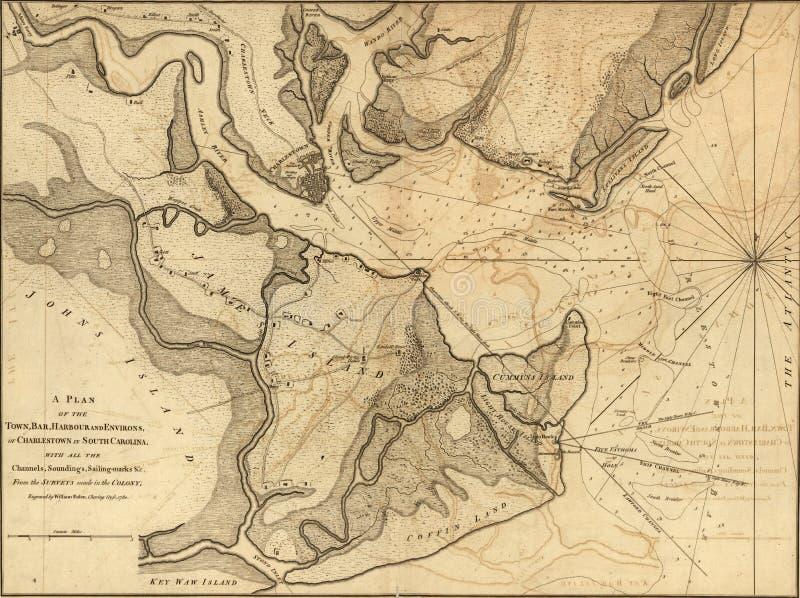 查尔斯顿地图  库存例证