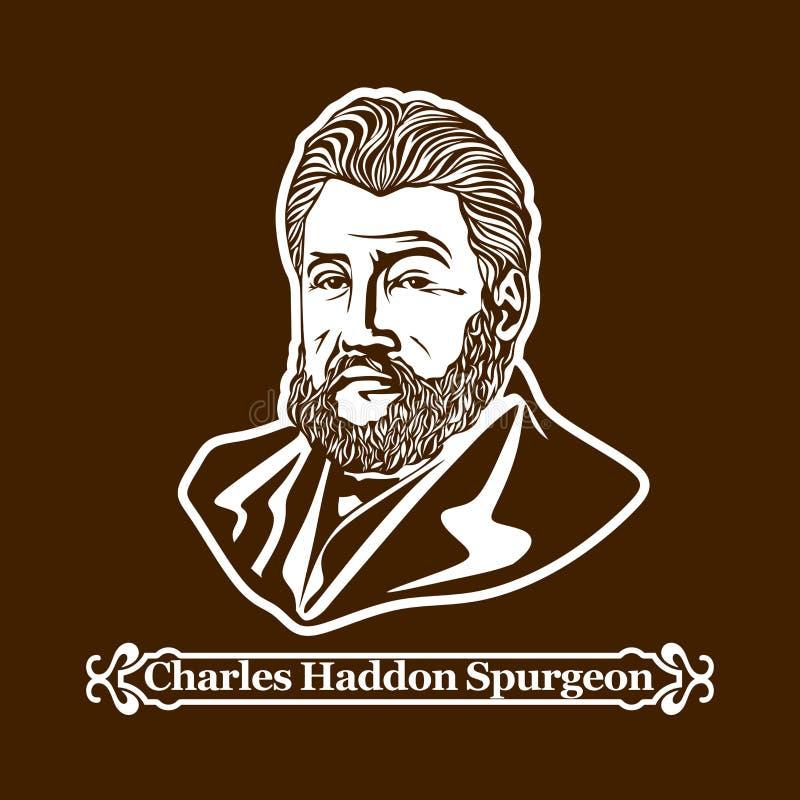 查尔斯Haddon Spurgeon 新教 欧洲改革的领导 向量例证