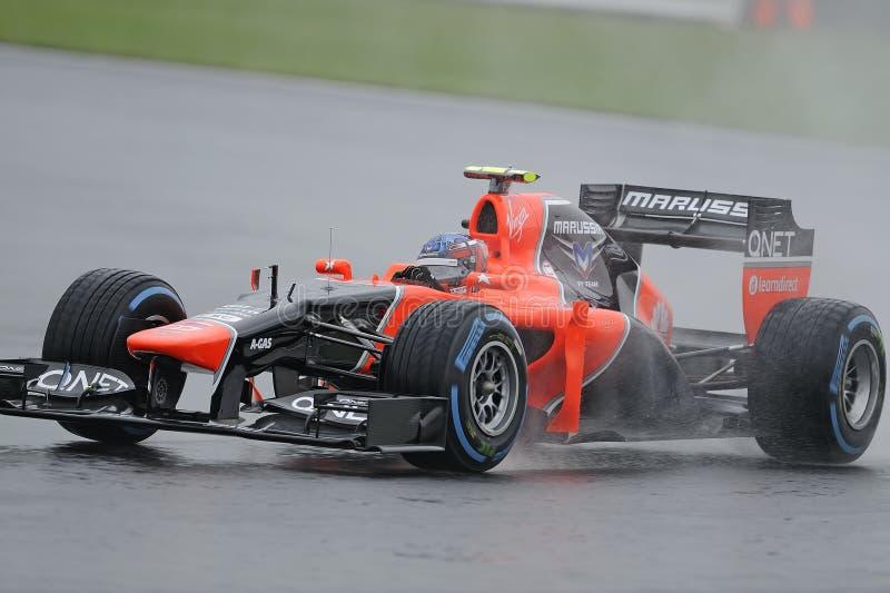 查尔斯pic, marussia F1 免版税库存图片