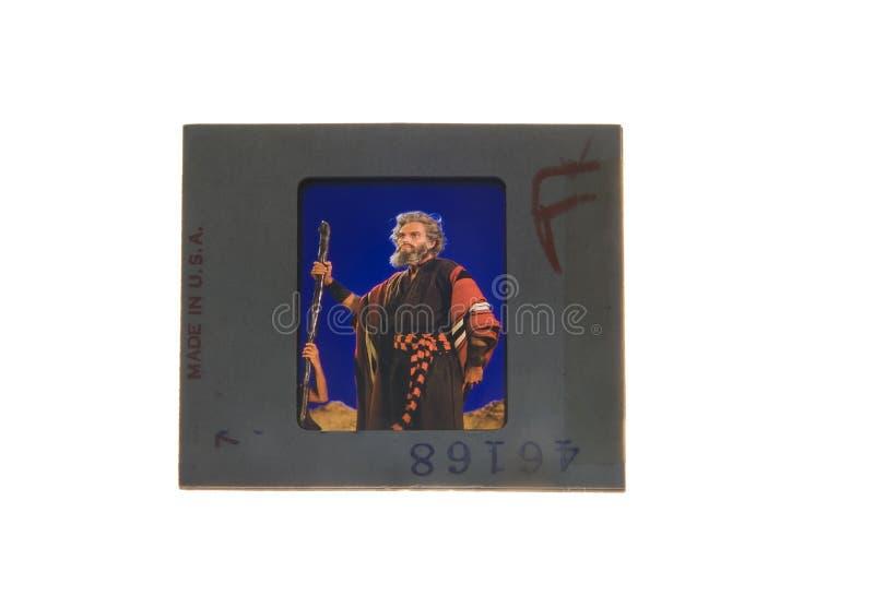 查尔顿・赫斯顿原始的演播室幻灯片透明度照片  免版税库存照片