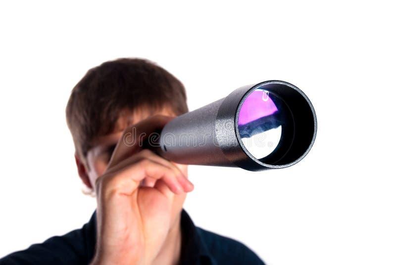 查找人望远镜 免版税库存照片