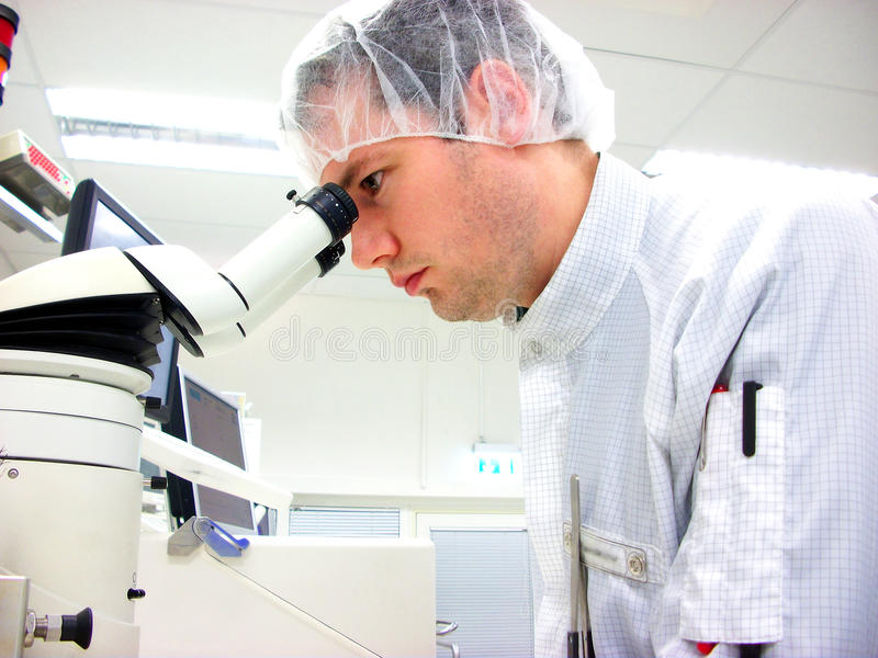 查找人stereomicroscope 库存图片