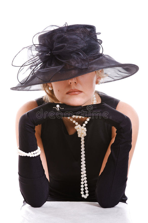 查找妇女的帽子 库存照片