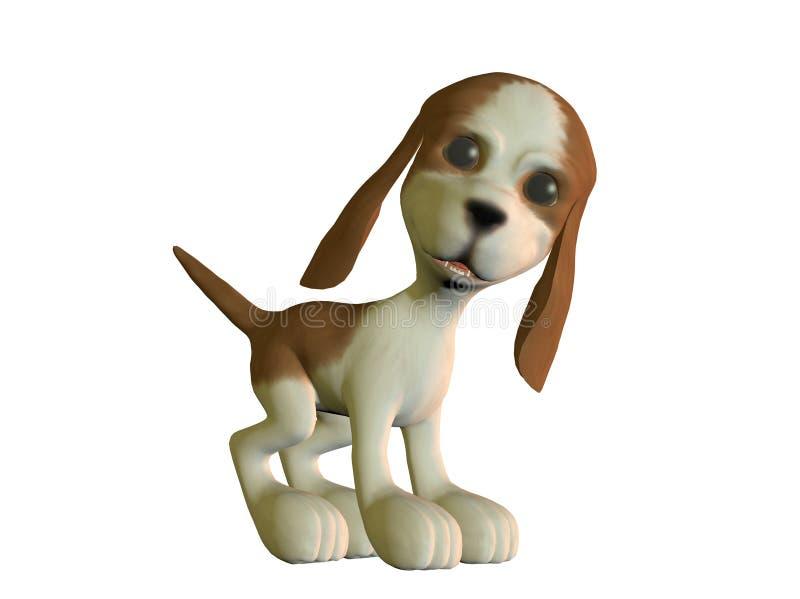 查找小狗的恼怒的动画片 库存例证
