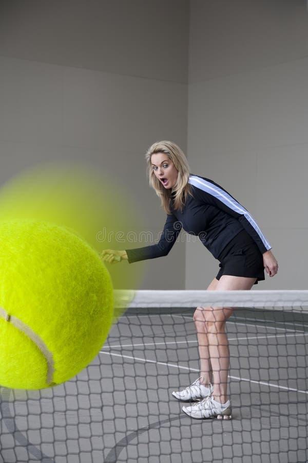 查找打惊奇的网球 免版税库存照片