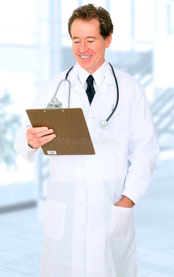 查找报表前辈的医生愉快的医院 库存图片