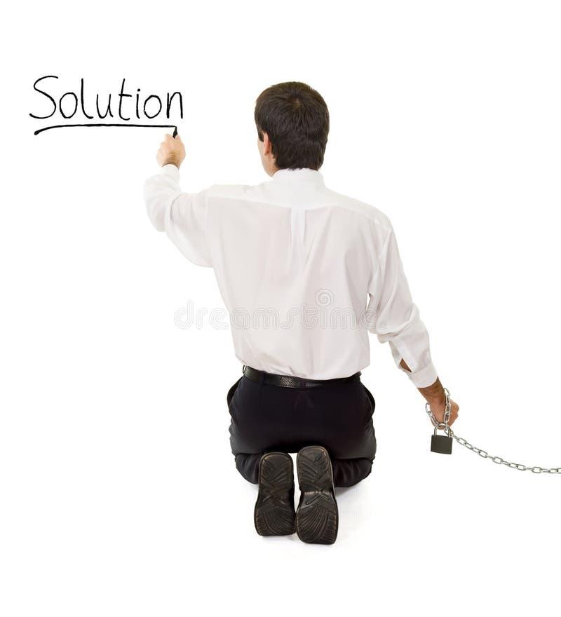 查找搜索解决方法 免版税库存照片