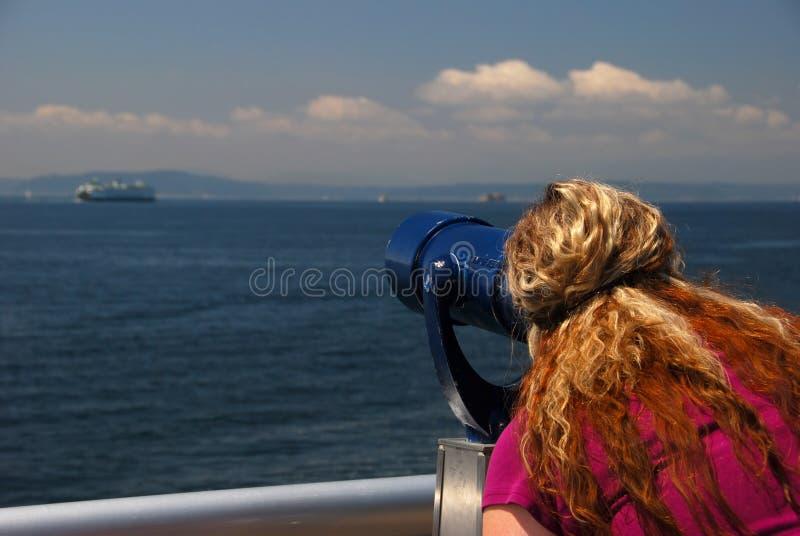 查找望远镜 图库摄影