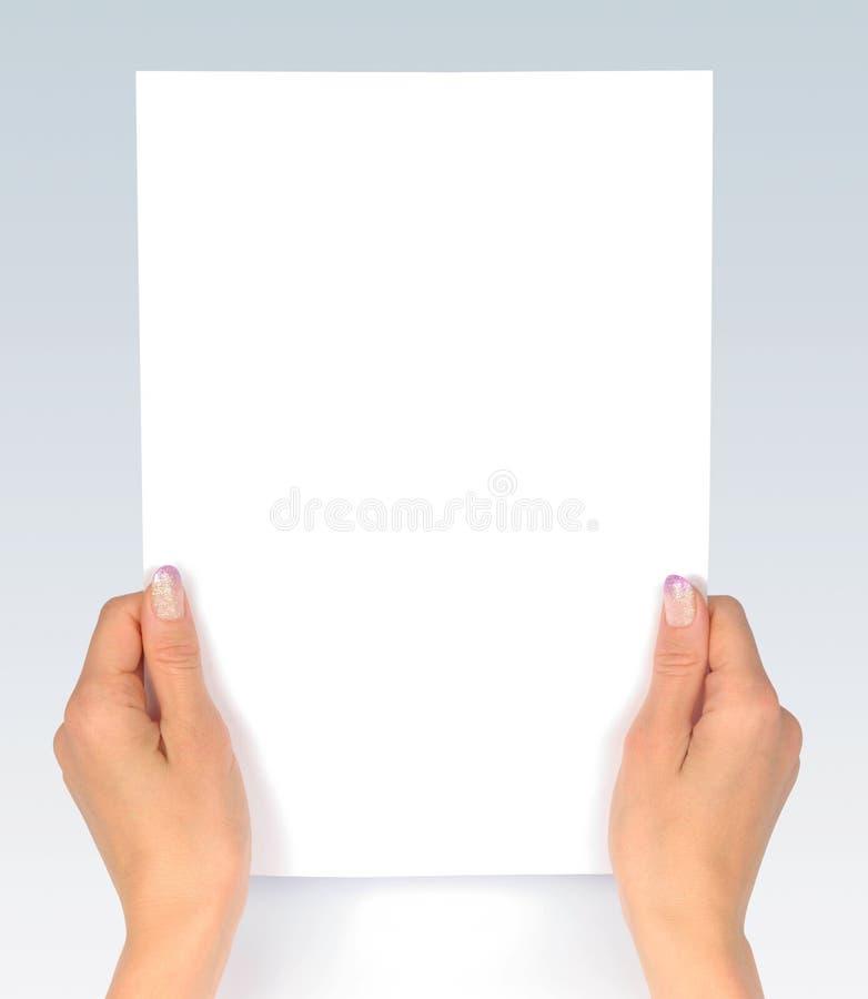 查找纸张 库存图片