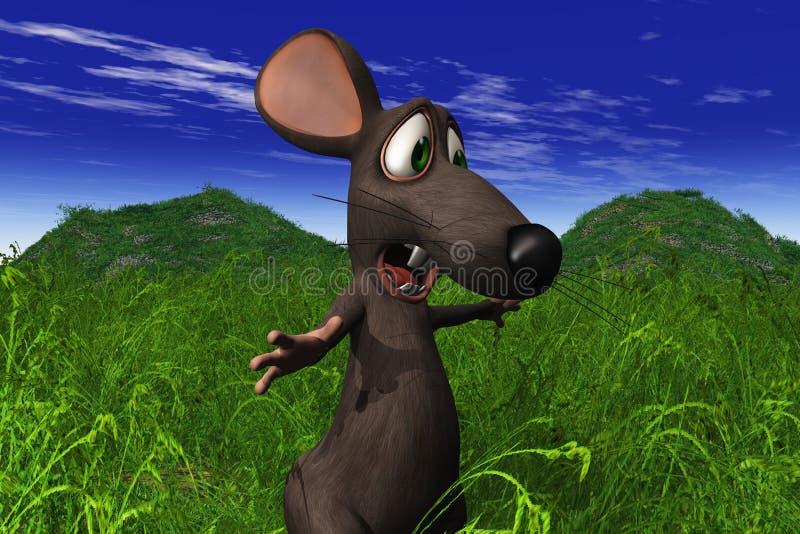 查找鼠标的域震惊 库存例证