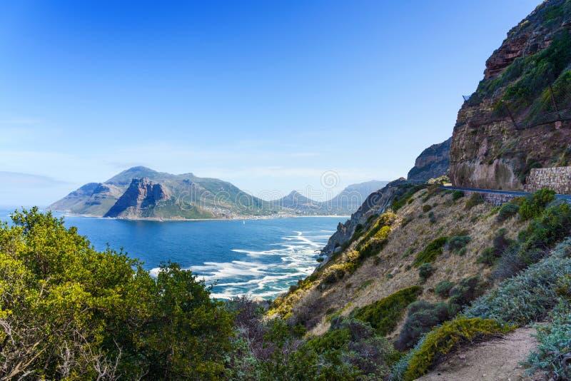 查普曼在南非开普敦的峰 复制文本的空间 库存图片